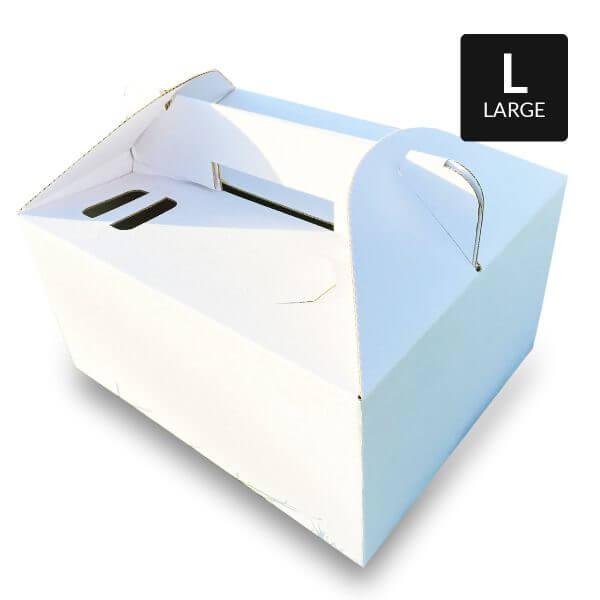 Picnic box made of white cardboard